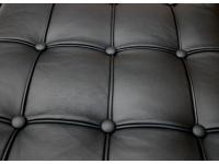 Image de la chaise design Sofá Barcelona 3 plazas - Negro