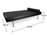 Image de la chaise design Sofá cama Barcelona 198 cm - Negro