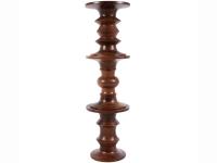 Image de la chaise design Taburete Cosy Nogal - Versión C