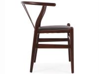 Image de la chaise design Wegner Silla Troy - Maron/Negro