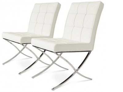 Image de la chaise design Barcelona Dining Chair - Blanca (2 sillas)