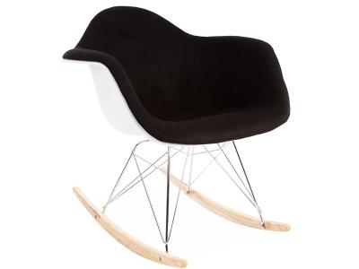 Image de la chaise design Eames RAR Almohadillado Lana - Negro