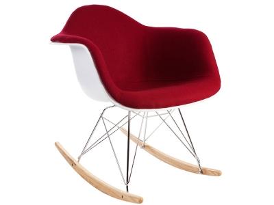 Image de la chaise design Eames RAR Almohadillado Lana - Rojo