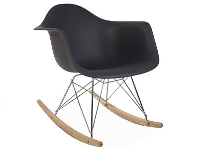 Image de la chaise design Eames Rocking Chair RAR - Antracita