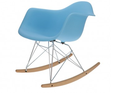 Image de la chaise design Eames Rocking Chair RAR- Azul claro