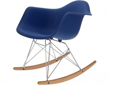 Image de la chaise design Eames Rocking Chair RAR - Azul oscuro