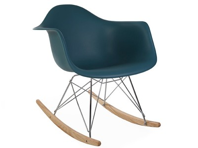 Image de la chaise design Eames rocking chair RAR - Azul verde
