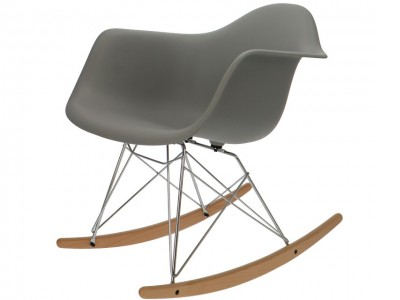 Image de la chaise design Eames Rocking Chair RAR - Gris
