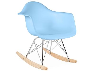 Image de la chaise design Eames rocking chair RAR niño - Azul