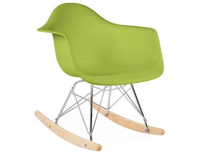 Image de la chaise design Eames rocking chair RAR niño - Verde