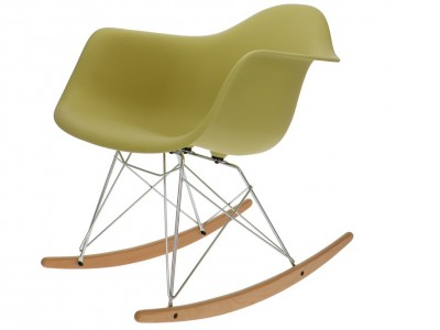 Image de la chaise design Eames Rocking Chair RAR -  Verde oliva