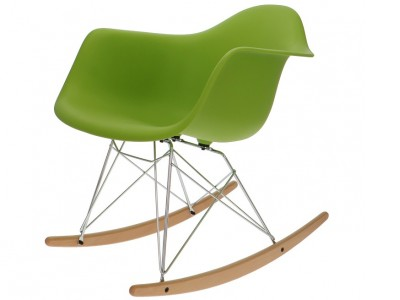 Image de la chaise design Eames Rocking Chair RAR - verde