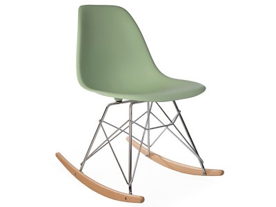 Image de la chaise design Eames Rocking Chair RSR - Almendra verde
