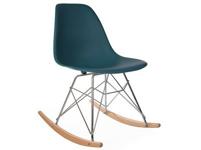 Image de la chaise design Eames rocking chair RSR - Azul verde