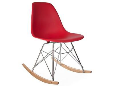 Image de la chaise design Eames Rocking Chair RSR - Rojo granate
