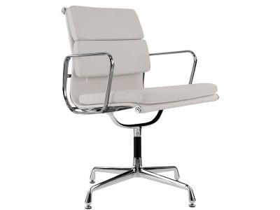 Image de la chaise design Eames Soft Pad EA208 - Gris claro