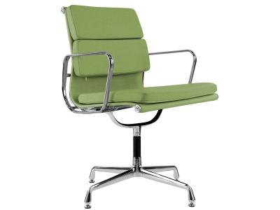 Image de la chaise design Eames Soft Pad EA208 - Verde limón