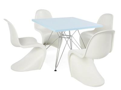 Image de la chaise design Mesa niño Eiffel - 4 sillas Panton