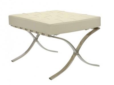 Image de la chaise design Ottoman Barcelona - Crema Blanca