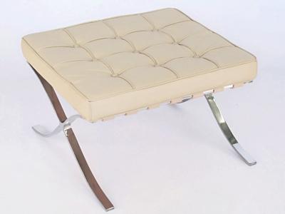 Image de la chaise design Ottoman Barcelona - Crema