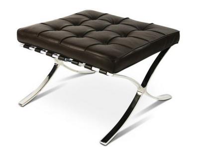 Image de la chaise design Ottoman Barcelona - Marrón oscuro