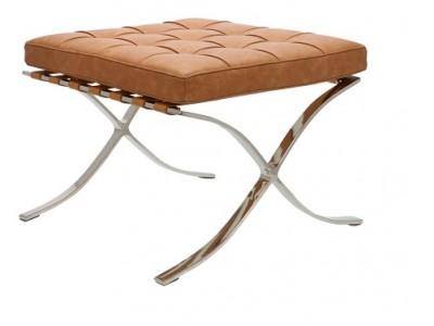 Image de la chaise design Ottoman Barcelona - Premium Vintage Cognac