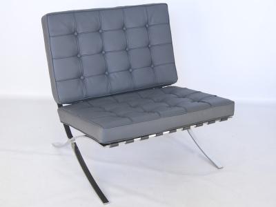 Image de la chaise design Silla Barcelona - Gris