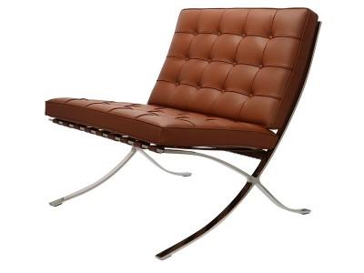 Image de la chaise design Silla Barcelona - Premium Cognac