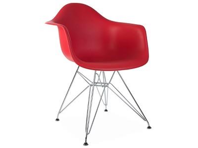Image de la chaise design Silla DAR - Rojo granate