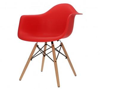 Image de la chaise design Silla DAW - Rojo vivo