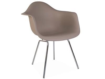 Image de la chaise design Silla DAX - Beige gris
