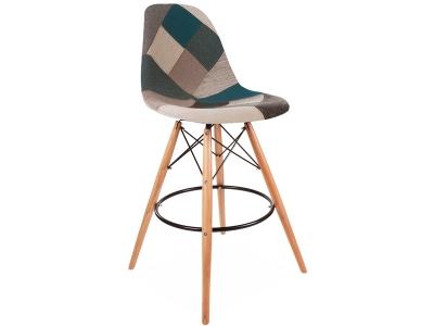 Image de la chaise design Silla de bar DSB - Patchwork azul