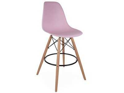 Image de la chaise design Silla de bar DSB - Rosa pastel