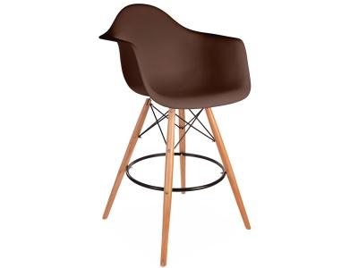 Image de la chaise design Silla de barra DAB - Café