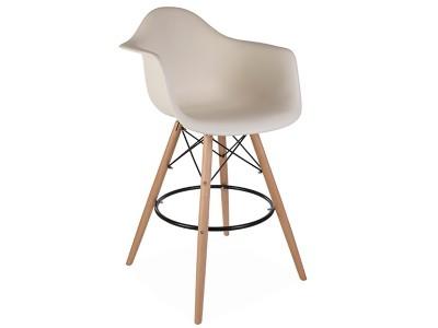 Image de la chaise design Silla de barra DAB - Crema