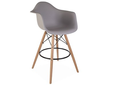 Image de la chaise design Silla de barra DAB - Gris ratón