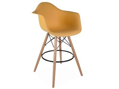 Image de la chaise design Silla de barra DAB - Naranja
