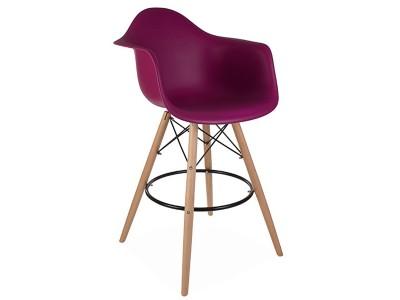 Image de la chaise design Silla de barra DAB - Púrpura