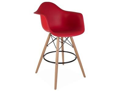 Image de la chaise design Silla de barra DAB - Rojo granate