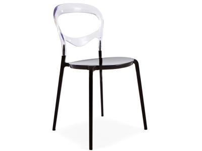 Image de la chaise design Silla Domino - Transparente/Nego