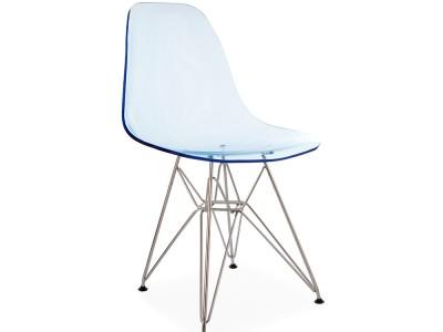 Image de la chaise design Silla DSR - Azul transparente
