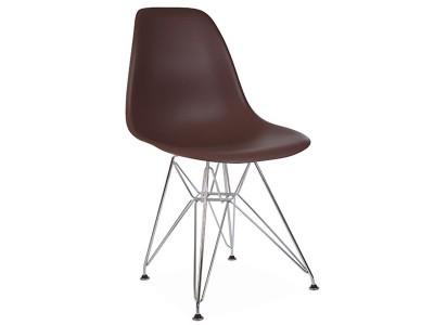 Image de la chaise design Silla DSR - Café