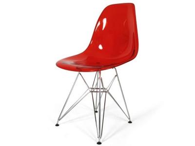 Image de la chaise design Silla DSR - Rojo transparente