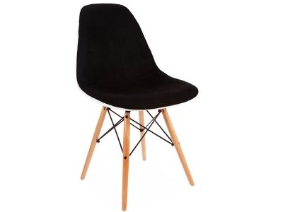 Image de la chaise design Silla DSW acolchada lana - Negro