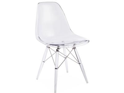 Image de la chaise design Silla DSW All Ghost - Transparente