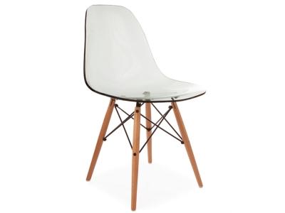 Image de la chaise design Silla DSW - Gris transparente