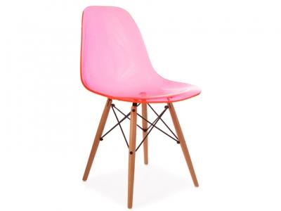 Image de la chaise design Silla DSW - Rosa transparente