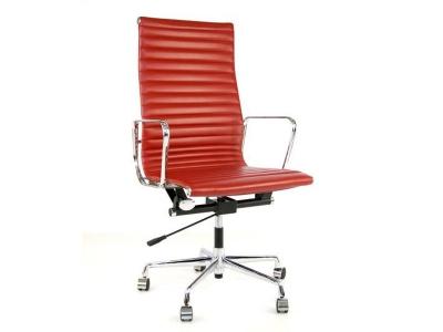 Image de la chaise design Silla Eames Alu EA119 - Rojo oscuro