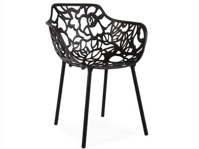 Image de la chaise design Silla Lilly - Negro