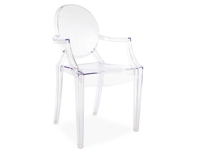 Image de la chaise design Silla Louis Ghost - Transparente